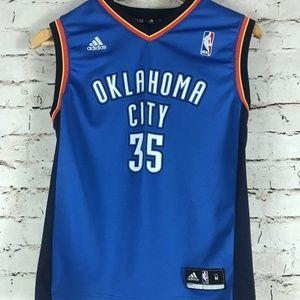 Kid's Oklahoma City Thunder Adidas Blue Jersey